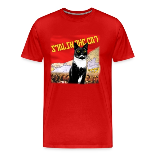 Stalin the Cat Propaganda Men's Tee - Men's Premium T-Shirt