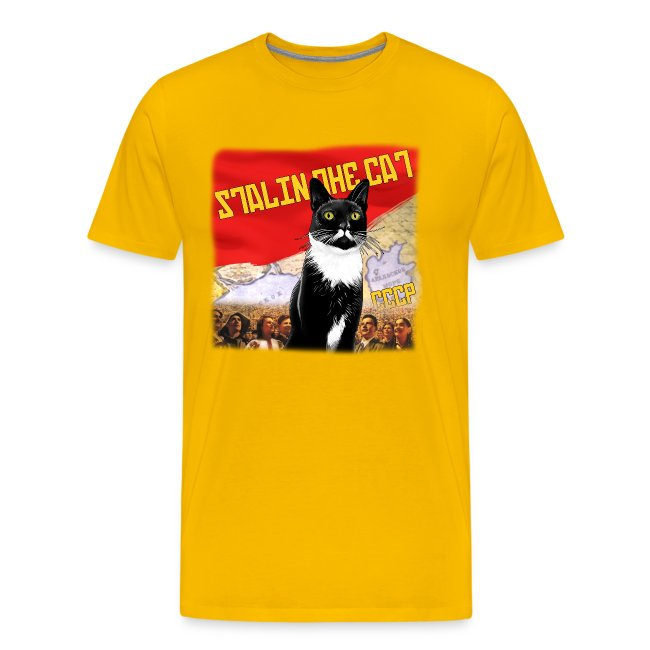 Stalin the Cat Propaganda Men's Tee
