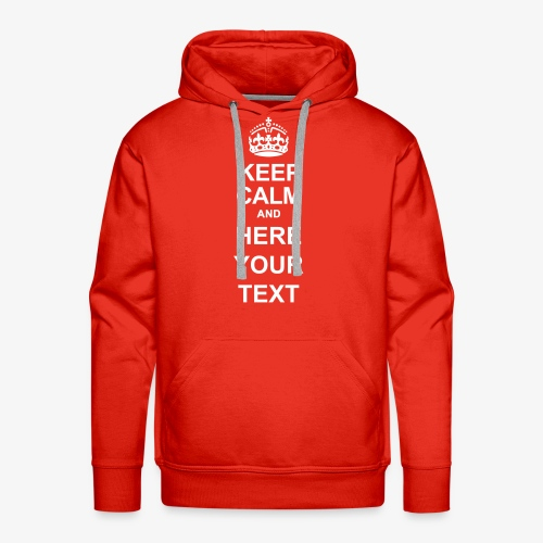 Keep Calm And Edit - Men's Premium Hoodie