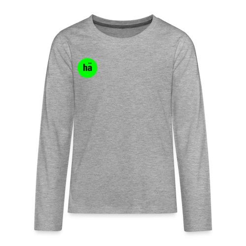 hä, Teens T-Shirt - Teenager Premium Langarmshirt