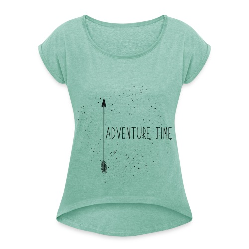 ADVENTURE TIME - T-Shirt - heather mint - Women's T-Shirt with rolled up sleeves