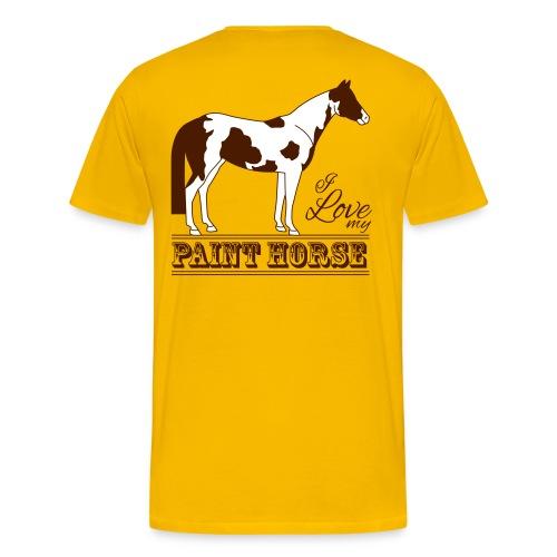 T-shirt Premium Homme jaune, motif il love my paint horse - T-shirt Premium Homme
