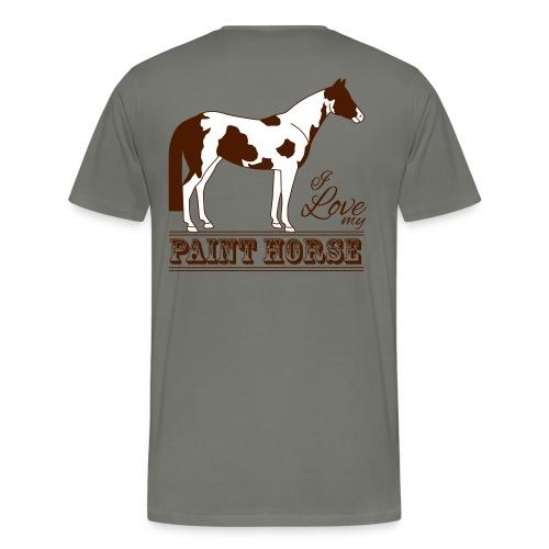 T-shirt Premium Homme asphalte, motif il love my paint horse - T-shirt Premium Homme