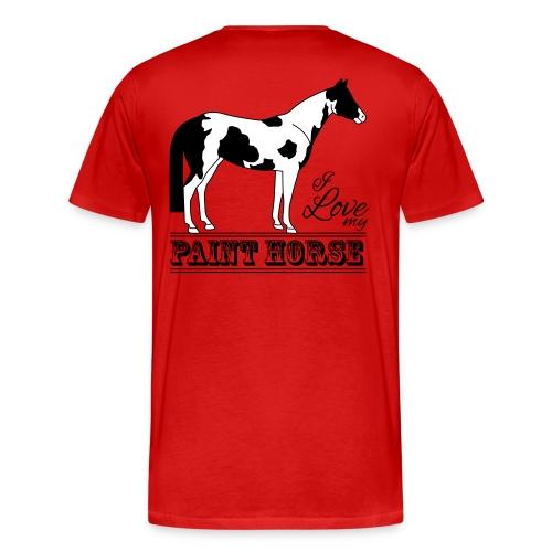 T-shirt Premium Homme rouge, motif il love my paint horse - T-shirt Premium Homme