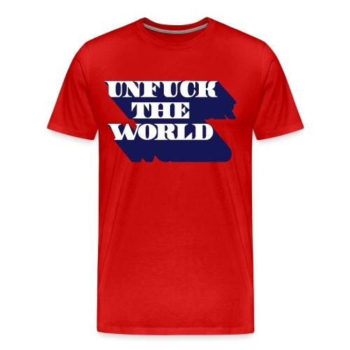 unfuck the world - Mannen Premium T-shirt