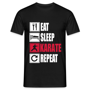Eat-Sleep-Karate-Repeat - T-shirt Homme