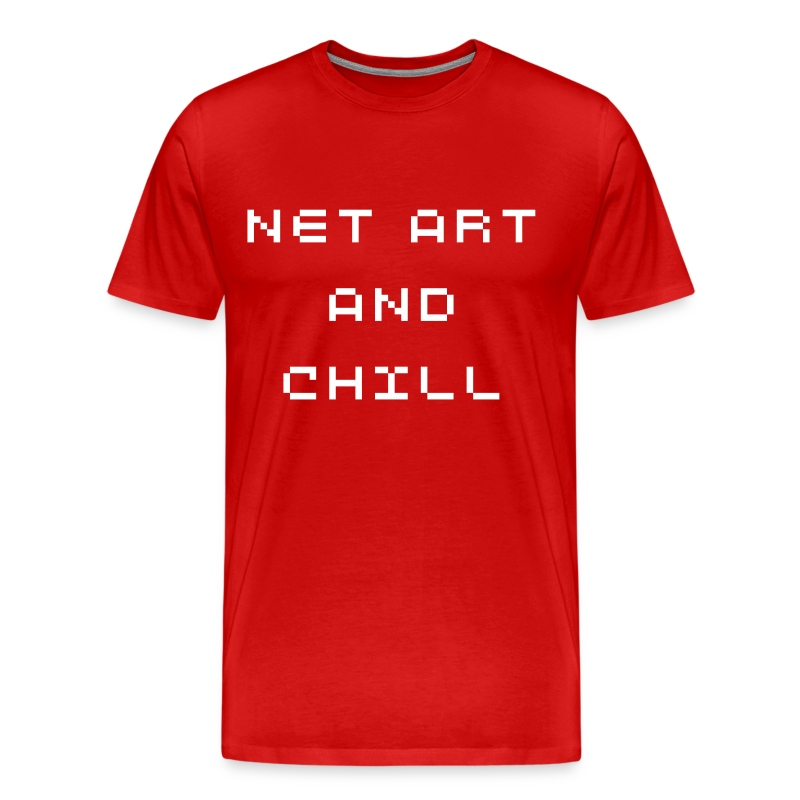 NET ART AND CHILL - Men's Premium T-Shirt