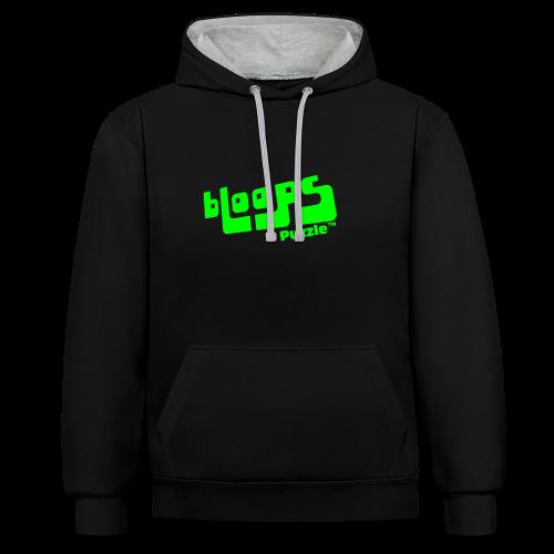 Unisex hoodie bLoops Puzzle (printed green) - Contrast Colour Hoodie