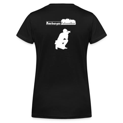 Women Walker Logo hinten - Frauen Bio-T-Shirt mit V-Ausschnitt von Stanley & Stella