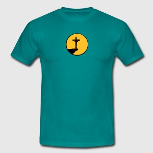 Night moon sun cliff dead pinned cross symbol team T-Shirts - Men's T-Shirt