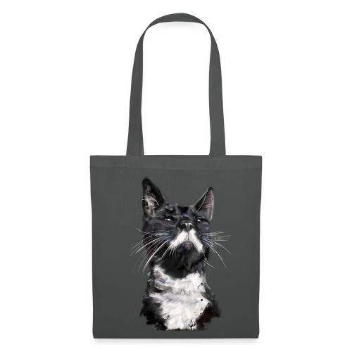 Stalin the Cat Watercolour Bag - Tote Bag