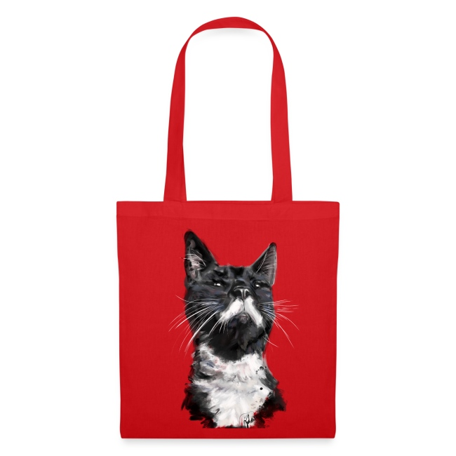 Stalin the Cat Watercolour Bag