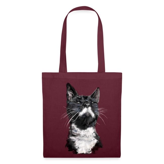 Stalin the Cat Watercolour Bag