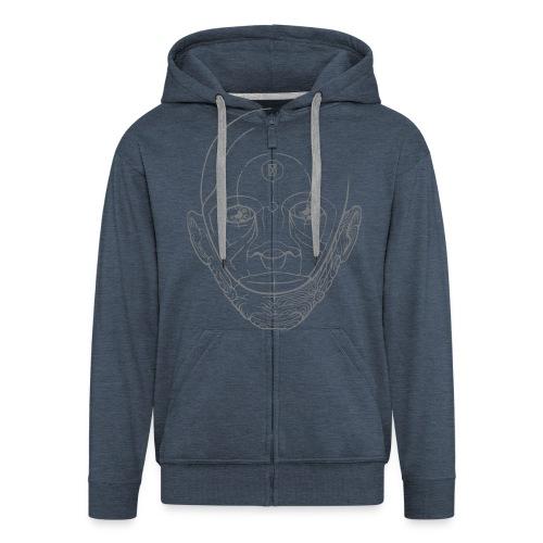 Mask Hoodie - Männer Premium Kapuzenjacke