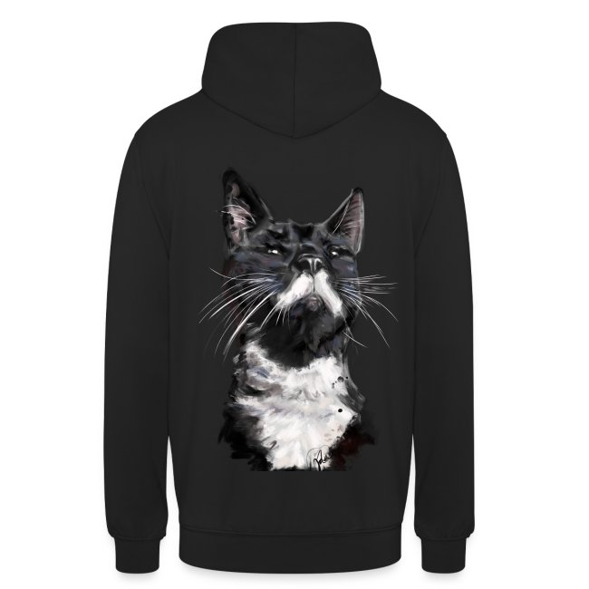Stalin the Cat Watercolour Mens' Hoodie