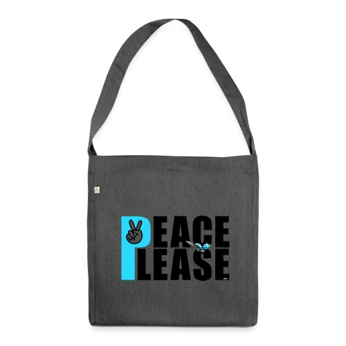 Please Peace_ - Schultertasche aus Recycling-Material