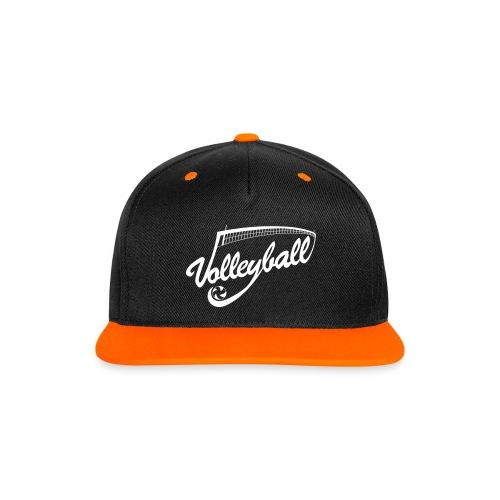 Casquette VolleyballOrange/Noir  - Casquette Snapback contrastée