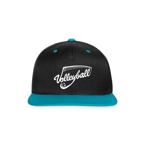 Casquette Volleyball Bleu/Noir - Casquette Snapback contrastée
