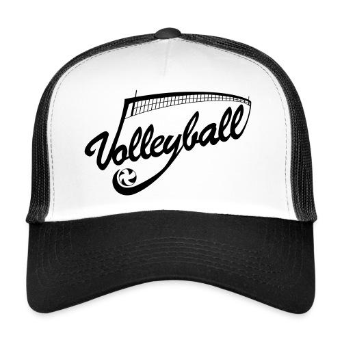 Casquette Volleyball Blanc/Noir - Trucker Cap