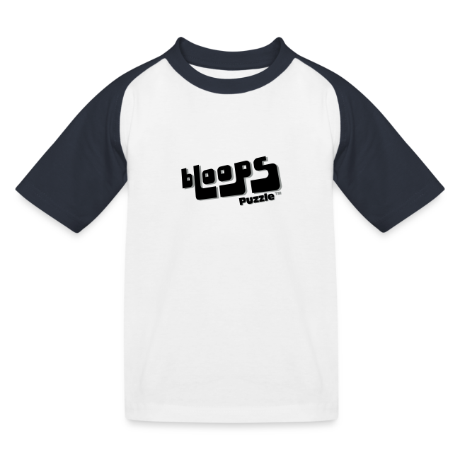 "Baseball top for kids ""bLoops Puzzle"" (black shadowed printed)"