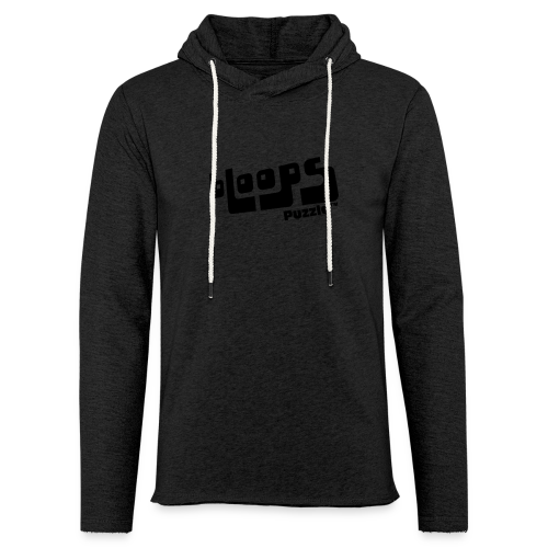 Light Unisex Sweatshirt Hoodie bLoops Puzzle (printed black) - Light Unisex Sweatshirt Hoodie