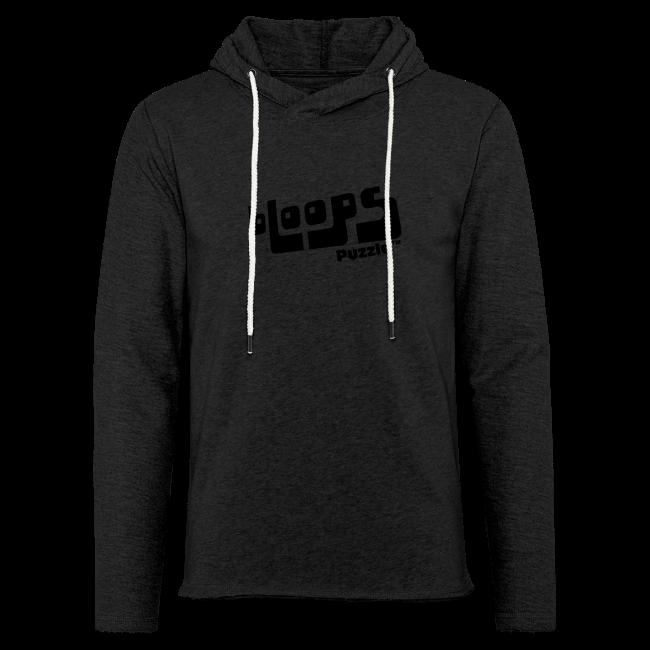 """Light Unisex Sweatshirt Hoodie """"bLoops Puzzle"""" (printed black)"""
