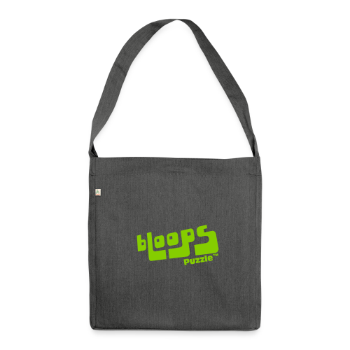 Shoulder Bag made from recycled material bLoops Puzzle (printed green) - Shoulder Bag made from recycled material