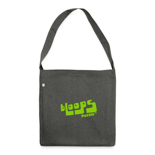 """Shoulder Bag made from recycled material """"bLoops Puzzle"""" (printed green)"""