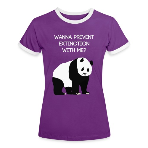Wanna prevent extinction with me? - Naisten kontrastipaita