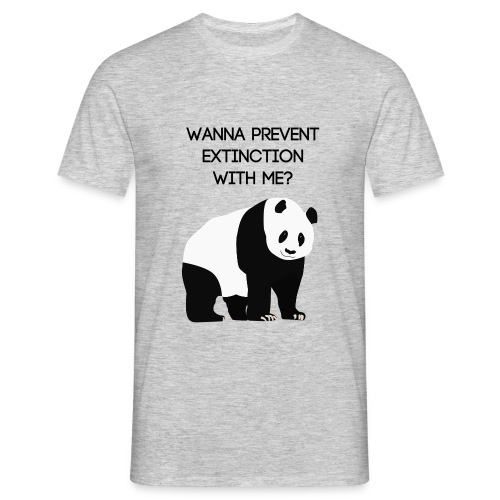 Wanna prevent extinction with me? - Miesten t-paita