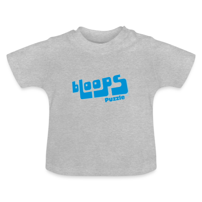 """Baby t-shirt """"bLoops Puzzle"""" (printed blue)"""