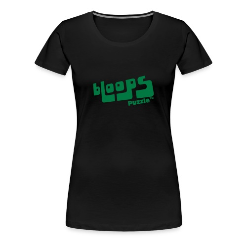 Women's Premium T-Shirt bLoops Puzzle (printed green Sequins SpecialFlex) - Premium T-skjorte for kvinner