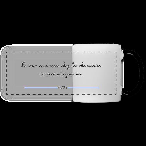Mug panoramique contrasté et blanc