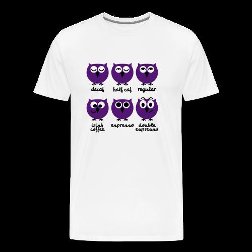 Kaffee - Eulen - Männer Premium T-Shirt