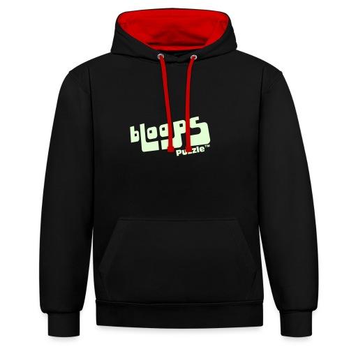 Unisex hoodie bLoops Puzzle (printed Fluo Phosphorescent SpecialFlex) - Kontrast-hettegenser