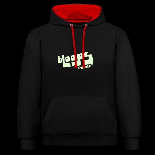 Unisex hoodie bLoops Puzzle (printed Fluo Phosphorescent SpecialFlex) - Contrast Colour Hoodie