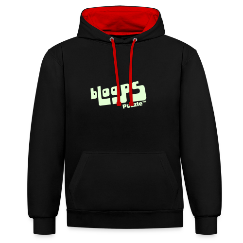 Unisex hoodie bLoops Puzzle (printed Fluo Phosphorescent SpecialFlex) - Contrast Colour Hoodie