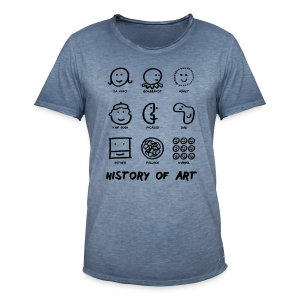 History of Art - Männer Vintage T-Shirt