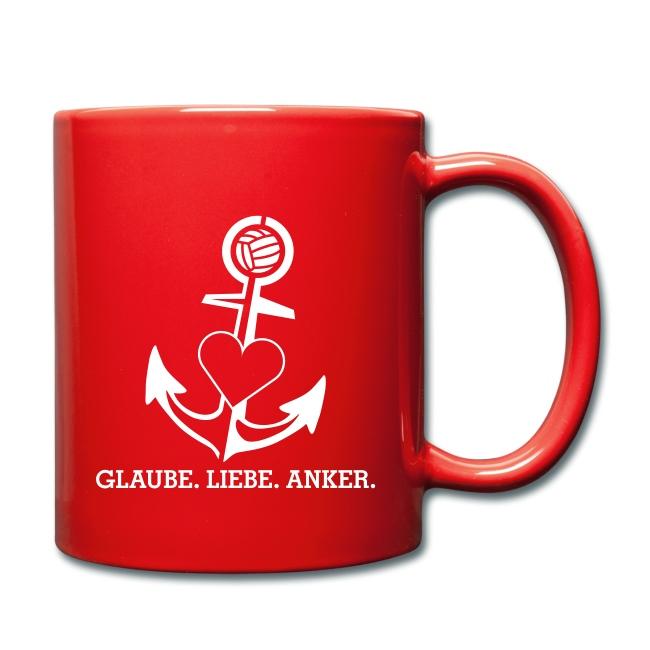 Kaffeetasse mit Logo und Anker