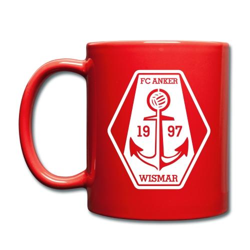 Kaffeetasse mit Logo und Anker - Tasse einfarbig