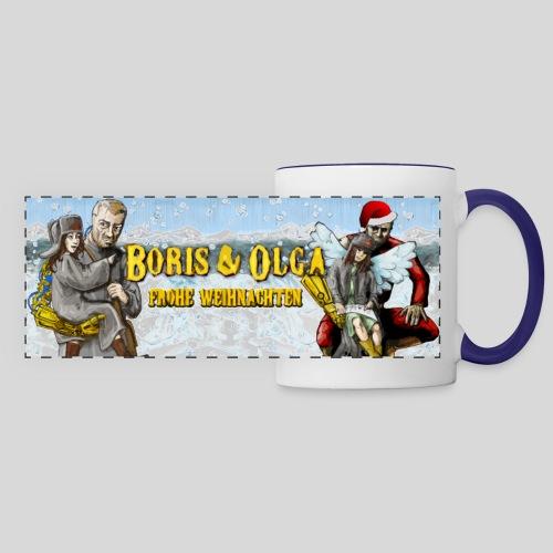 Boris und Olga - Weihnachtstasse - Panoramatasse