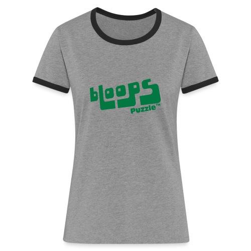 Women's Ringer T-Shirt bLoops Puzzle (printed Green Sequins SpecialFlex) - Kontrast-T-skjorte for kvinner