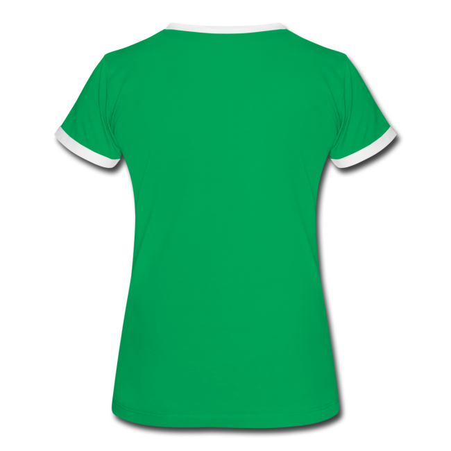 """Women's Ringer T-Shirt """"bLoops Puzzle"""" (printed Green Sequins SpecialFlex)"""