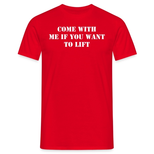 Lift red - T-shirt herr
