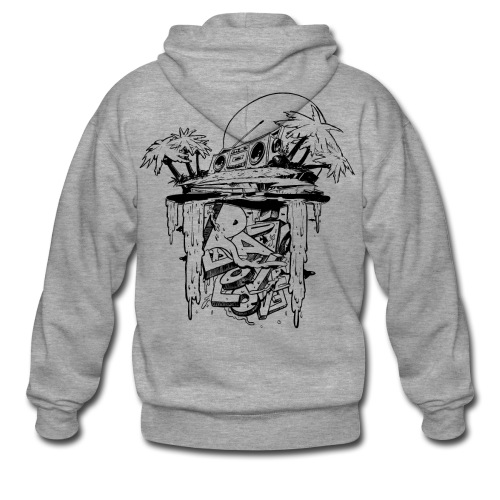 Radio Love Love Island UnisexHoodiejacke Front Print - Men's Premium Hooded Jacket