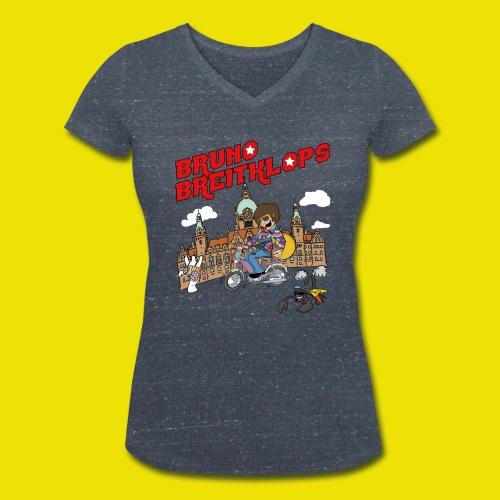 Mofa - Girlie - Frauen Bio-T-Shirt mit V-Ausschnitt von Stanley & Stella