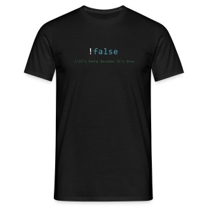 false == true - Mannen T-shirt