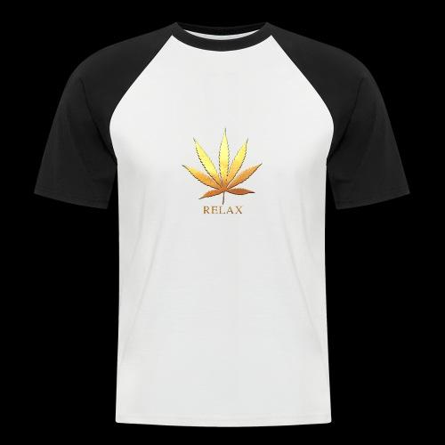 White/black - Relax - Mannen baseballshirt korte mouw