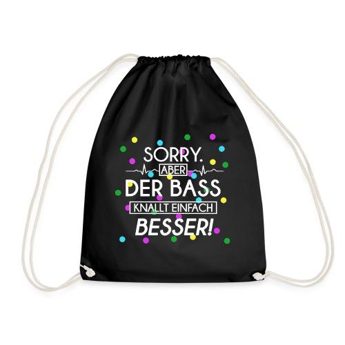Turnbeutel - Der Bass Knallt Besser! - Turnbeutel