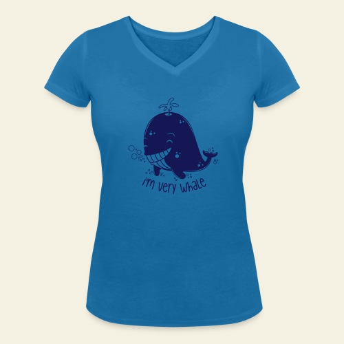 I'm very whale - T-shirt bio col V Stanley & Stella Femme